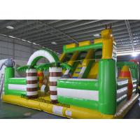 China PVC Animal Inflatable Bouncy Castle Bed , Blow Up Kids Water Slide on sale