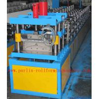 Corrugated Color Steel Roof Ridge Cap Roll Forming Machine , Trapezoidal Profile Roll Former Manufactures