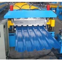 Blue High Speed Roof Panel Roll Forming Machine 7.5kw Hydraulic Manufactures