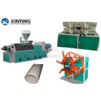 Automatic PVC Pipe Making Machine , Plastic Pipe Extrusion Line ABB Invertor Manufactures