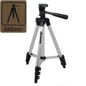 OEM 1/4 screw 2 Segments Cooper Aluminum Mini Camera Tripod for for traveling parties sports events