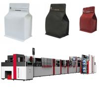 China Laminated Film Flat Bottom Pouch Making Machine 650mm Width High Speed on sale