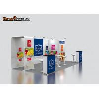 Durable Portable Exhibition Booth 3x6 Aluminum Frame With Tension Fabric Manufactures
