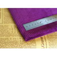 China Water Proof Purple Corduroy Fabric Antibacterial 60 Cotton 40 Polyester on sale