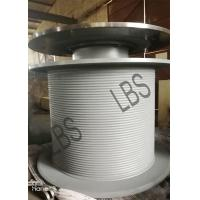 Steel LBS Grooved Drum with Brake Disc / Large Winch Drum for Tower Crane for sale