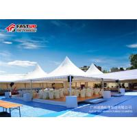 China Fire Retardant 6 By 6 Festival Party Tent Pagoda Shape With Curtain Decoration wholesale