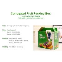 corrugated fruit packing box, kraft paper, gloss lamination, offset printing, foldable box,flower cone,flowral packaging