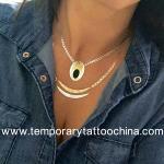 2015 custom temporay gold foil flash tattoo Manufactures