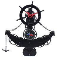 Metal Gear Standing Floor Clock Battery Powered For Home Decor Manufactures