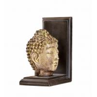 Feng Shui Buddha Head Gold Arrow Bookends , 2 Set Resin Kids Room Bookends Manufactures