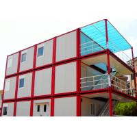 Warm Cool Steel Container Houses , Metal Container Houses With Air Conditioner Manufactures