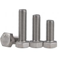 410 304 Stainaless Steel Hex Head Cap Screw Bolt Grade 4.8, 6.8, 8.8 For Motorcycles Manufactures