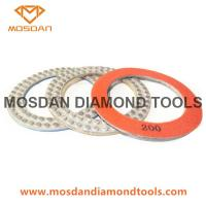 China 7 Inch Metal-Bond Flex DOT Concrete Diamond Polishing Pads Pucks on sale