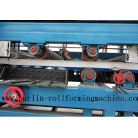 Colored Steel PU Sandwich Panel Production Line , Roof Panel Roll Forming Machine Manufactures
