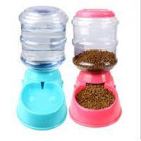 China Dog Automatic Drinking Fountain Cat Automatic Feeding Cat Dog Food Bowl Gravity Drinking Basin 3.5L on sale