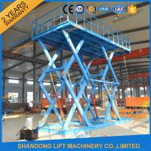6T 5M Heavy Duty Stationary Hydraulic Scissor Lift Manufactures