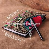 Customize Embroidered Logo Notebooks with leather snap closure as best souvenir gift