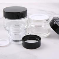 China Transparent Glass Cosmetic Cream Jar No Leakage Waterproof For Makeup Industry on sale
