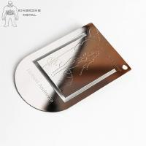 Color Printed  Engraved Metal Bookmarks For Men  Promotional  Gift Logo Engraved Manufactures