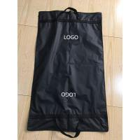 China Clips Suit Garment Bag Travel Black Peva Printed Webbing Handles 100*60 cm Size on sale