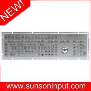 China full range metal keyboard with trackball on sale