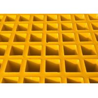 High Strength Fiberglass Walkway Grating , Grey Concave Surface FRP Molded Grating Manufactures