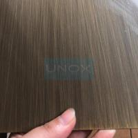 SUS304 Brass Hairline Stainless Steel Sheet ,PVD Color Decoration Sheets 1250mm 1500mm , Copper Brass Bronze Plates Manufactures