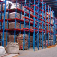 Quality Commercial Boltless Steel Drive In Pallet Rack System Heavy Duty Corrosion Protection for sale