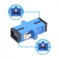China FTTH Fiber Connection UPC / SC Simplex Adapter Fire Resistant Plastic Material Green Color on sale
