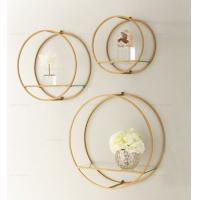 Metal Round Shape Wall Hanging Display Hanging Wall Shelves Decorative Modern Home Wall Decoration Manufactures