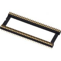 China 1.778mm PCB Round Female Pin Header PPS Insulator Body Gold Plating on sale
