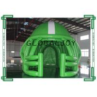 0.5mm PVC Sport Advertising Inflatables , Green Inflatable Football Tunnel for sale