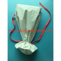 White CPE Drawstring Plastic Bags For New Year Gift / Women 'S Personal Items Manufactures