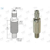 Φ10mm Brass Material Grip Lock Cable Grippers Nickel Finishing With  Security Cap Manufactures