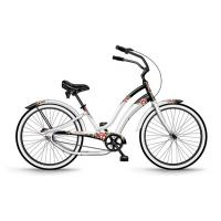 China Stylish Full Size Single Speed Beach Cruiser Bicycles White And Black on sale