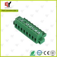 PA66 Material Connector Plug in Terminal Block 0.4Nm Torque  2.5mm² Manufactures