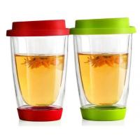China Handmade Thermo Double Wall Glass Coffee mugs for  Latte Tea dinning bar office,home school on sale