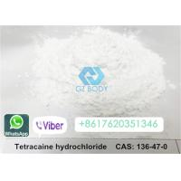 China Tetracaine Hydrochloride Raw Steroid Powders White Powder Form CAS 120-51-4 on sale