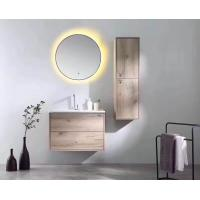 Custom Build Plywood Bathroom Vanity , Wall Mounted Round In Wall Bathroom Mirror Cabinet Manufactures