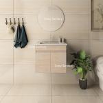 Wood Grain PVC Modern Sink Vanity Adjustable Shelf Inside Customized Size Manufactures