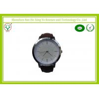 Customized Luxury Modern Leather Strap Watch For Men With Logo Printed
