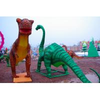 China Electric Silk Fabric Chinese Lanterns Dinosaur Shaped For New Year Show on sale