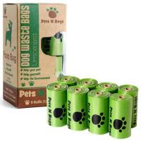 Non - Toxic 100% Biodegradable Poop Bags , Biodegradable Plastic Bags Refill Rolls Manufactures