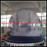 China Advertising Christmas background inflatable snow globe 4M diamater PVC0.8mm material on sale