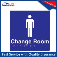 Against Scratching Braille Tactile Signs For Male / Female Change Room Manufactures