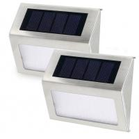 Super Bright Small Solar Wall Lights Outdoor With Motion Sensor Detector / LED Stair Lights Manufactures