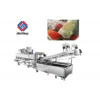 Vegetable And Fruit Washing Cleaning Machine 1400*1050*1480 mm Dimension Manufactures