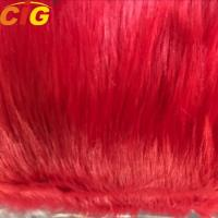 China Long Hairs Plain Synthetic Faux Fur Fabric For Sofa And Car Seat Cover on sale