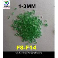 China F8-F14 Crushed Glass Abrasive , 6.0 Moh Hardness Recycled Glass For Sandblasting on sale