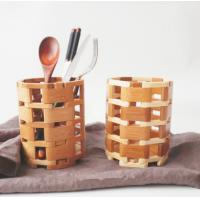 Kitchen Spoon Fork Bamboo Display Unit / Bamboo Chopstick Holder Portable Manufactures